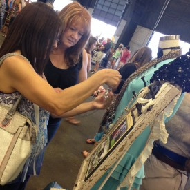 Shoppers checking out my Ruby Mae lanyards