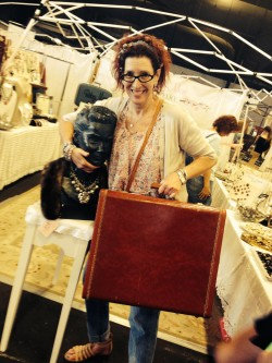 Artist Adrienne wants to steal my prized bust dated 1950 the backside 1950. Sorry Charlie, she's mine.