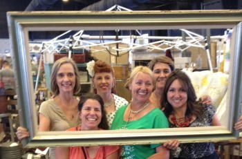 With my fellow vendor friends & sister Jen.