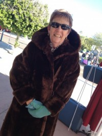 Sheila LOVED her new to her vintage coat she scooped up from my booth. She said she felt like Marilyn Monroe. Initially it was going to be a gift but she decided to keep it for herself.