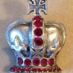 Red Ruby Crown Button