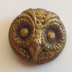 Eagle Owl's Head Button