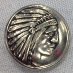 Indian Head Button