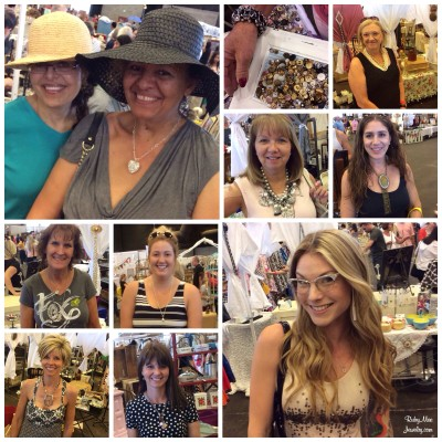 Shoppers wearing their Ruby Mae purchases including the glasses