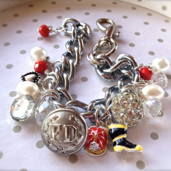 Katie loves a fireman and this bracelet is a birthday gift from girlfriends.