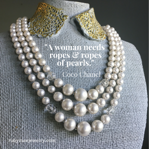 Pearls Quote by CoCo Chanel