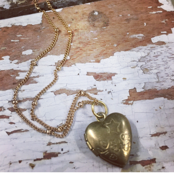 Locket on chain chosen at Sweet Salvage