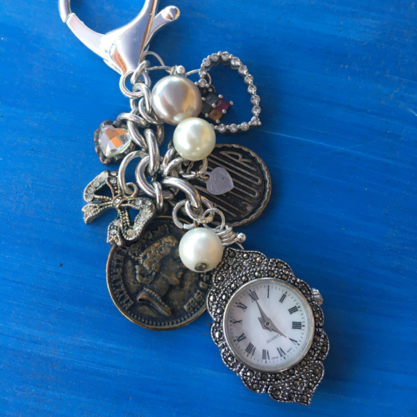 Rickey Loves Tori. This gift from Beth holds the watch & charms from Tori's mom Barbs' jewelry box.